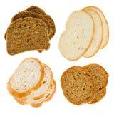 Le fette del taglio di pane Fotografia Stock