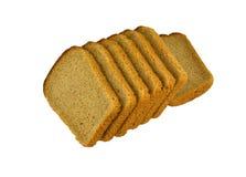 Le fette di pane poste Immagine Stock