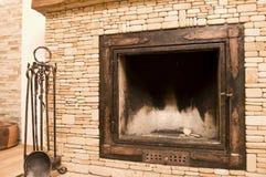 le feu à la maison Photos libres de droits