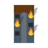 Le feu établissant l'urgence résidentielle illustration libre de droits
