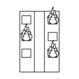 Le feu établissant la ligne résidentielle de secours illustration stock
