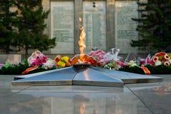Le feu éternel commémoratif photo libre de droits