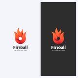 Le feu abstrait, forme Logo Design Template de flamme Thème d'entreprise constituée en société Énergie, concept de puissance Styl Photo libre de droits