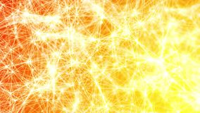 Le feu abstrait lent chaud subtil de jaune orange de plexus de boucle abstraite de fond illustration stock