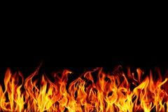 le feu brûlant avec l'espace Image libre de droits