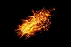 le feu brûlant d'isolement sur le noir photographie stock