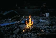 Le feu brûle photographie stock