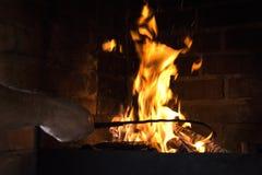 Le feu brûle Images libres de droits