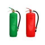Le feu chimique vert et rouge Images stock