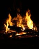Le feu classique de camp Photographie stock libre de droits