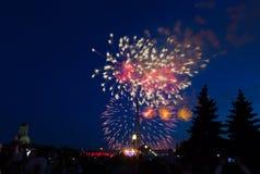 Le feu d'artifice de célébration Images libres de droits