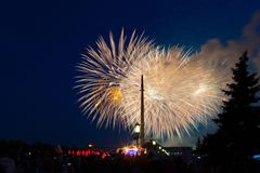 Le feu d'artifice de célébration Image stock