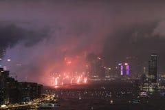 le feu d'artifice du 20ème anniversaire HK Image libre de droits