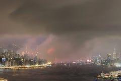 le feu d'artifice du 20ème anniversaire HK Photos libres de droits