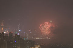 le feu d'artifice du 20ème anniversaire HK Image stock