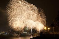 Le feu d'artifice du 4 juillet du Macy Photographie stock