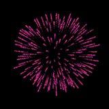 le feu d'artifice a isolé Beau salut sur le fond noir Décoration lumineuse de feu d'artifice pour la carte de Noël, bonne année illustration libre de droits
