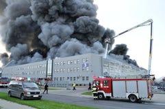 Le feu d'entrepôt Photographie stock libre de droits