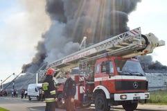 Le feu d'entrepôt Photo stock