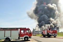 Le feu d'entrepôt Image libre de droits