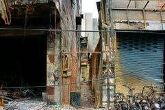 Le feu d'horreur, ville de Ho Chi Minh de résidence photo libre de droits
