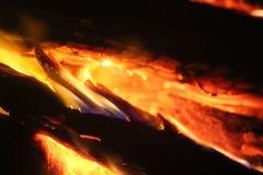 Le feu d'un rouge ardent Photo libre de droits