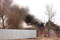 Le feu dans la campagne Image libre de droits