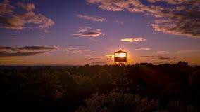 Le feu dans la tour Image libre de droits
