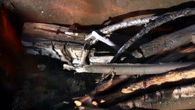 Le feu dans le brasero Image libre de droits