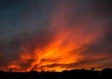 Le feu dans le ciel Images libres de droits
