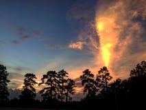 Le feu dans le ciel Photos libres de droits