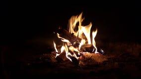 Le feu dans le fourneau Images stock