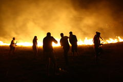 Le feu dans Monténégro Image stock