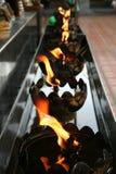 Le feu dans le temple Thaïlande photos stock