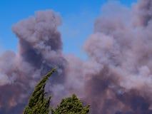Le feu dans Vitrolles, le 10 août 2016 Photo stock