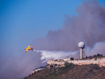 Le feu dans Vitrolles, le 10 août 2016 Photos stock