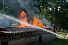 Le feu de bâtiment Photo libre de droits