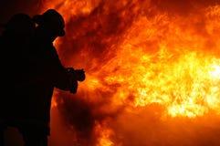 Le feu de bâtiment d'enfer photographie stock libre de droits