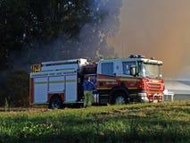 Le feu de brousse Robina Images libres de droits