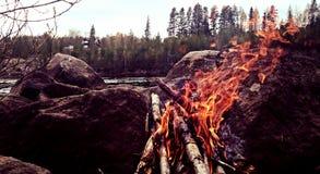 Le feu de camp Photographie stock libre de droits