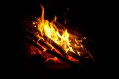Le feu de camp Image libre de droits