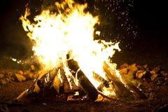 Le feu de Campf Images libres de droits