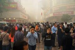 Le feu de Changhaï Image libre de droits