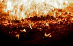 Le feu de charbon Images libres de droits