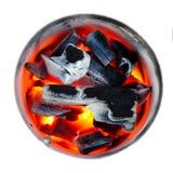 Le feu de charbon de bois Photos stock
