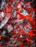 Le feu de charbon de bois Photos libres de droits