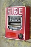 Le feu de commutateur de bouton poussoir Photos libres de droits