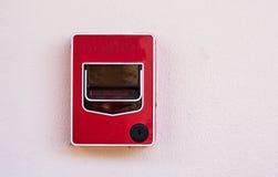 Le feu de commutateur de bouton poussoir Photo libre de droits