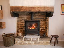 Le feu de cottage Image stock