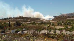 Le feu de forêt 1e WS DE LA VALLÉE banque de vidéos